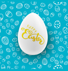 easter seamless pattern with white egg vector image vector image
