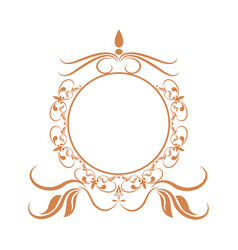 Elegant frame heraldry ornate decoration element vector