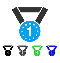 first medal flat icon vector image vector image
