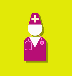 flat icon design collection doctor silhouette in vector image vector image