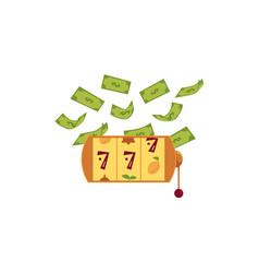 flat slot mashine jackpot triple seven vector image