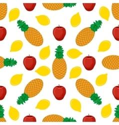 Fruits flat seamless pattern vector image vector image
