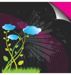 garden design vector image vector image