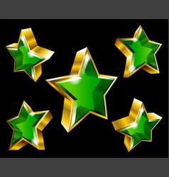 golden star symbol vector image