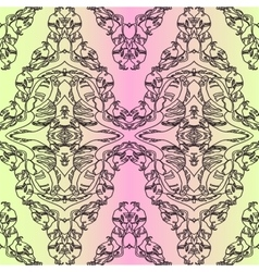green and rose vintage background pattern vector image