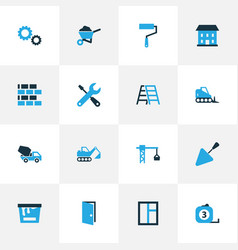 Industry colorful icons set collection of measure vector