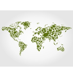 Leaf map vector image vector image