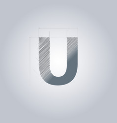 Letter u logo alphabet logotype architectural vector