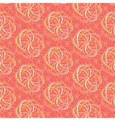 Line flower pattern in shades of pink vector image vector image