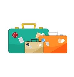 luggage on white background vector image