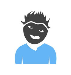 Man in weird expression vector