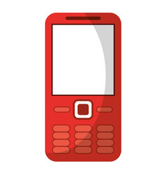 Mobile phone call technology vector