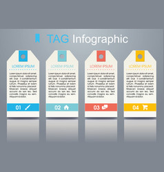 Modern colorful infographics with ribbon vector