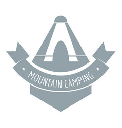 mountain camping logo vintage style vector image vector image