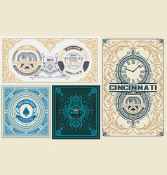 Pack of 4 labels for packing vector
