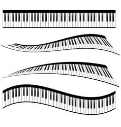 Piano keyboards vector image