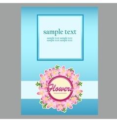 Poster in blue with space for text vector image