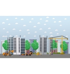 Residential construction concept vector