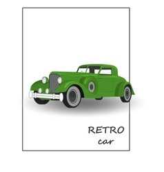 Retro car vintage collection classic garage sign vector image
