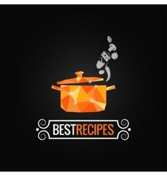 Saucepan poly design background vector