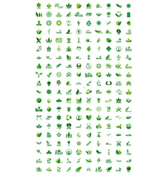 Set of go green logo vector