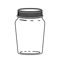 silhouette jar of jam with lid vector image vector image