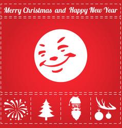 smile icon vector image