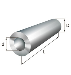 Steel cylinder tube industrial metal object vector image vector image