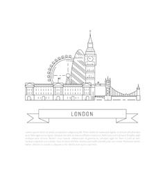Symbols of london vector