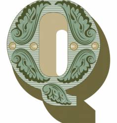 western letter q vector image vector image