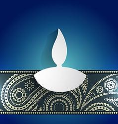white diwali diya vector image