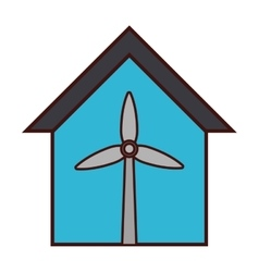 Wind turbine icon image vector