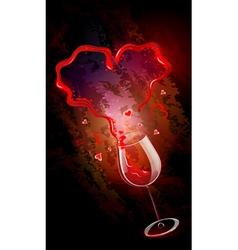 Red wine vector