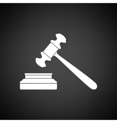 Judge hammer icon vector