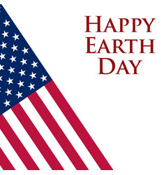earth day in the united states vector image
