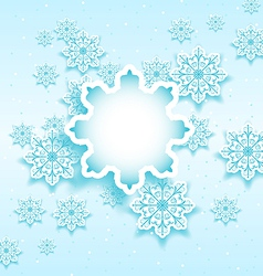 Christmas bubble with set snowflakes vector