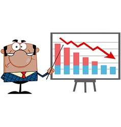 Economics teacher with graphs vector