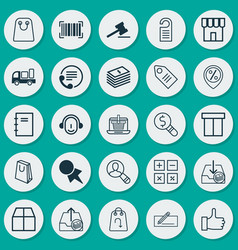 E-commerce icons set collection of money transfer vector