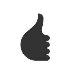 Like symbol thumb up hand icon vector