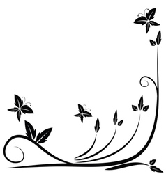 Floral black border vector