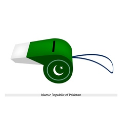 A whistle of islamic republic of pakistan vector