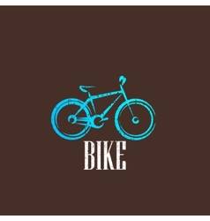 vintage with a bike icon vector image