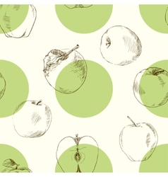 Seamless pattern apples vector