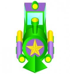 children's locomotive vector image