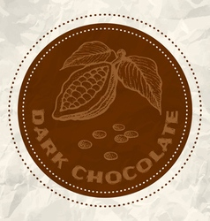 Dark chocolate vintage paper vector