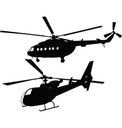 Helicopters - vector