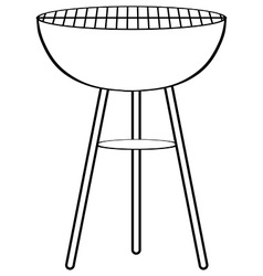 Sketch of barbecue alone vector