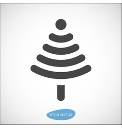 Funny christmas tree icon based on wireless symbol vector
