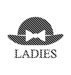 Female restroom symbol sign vector
