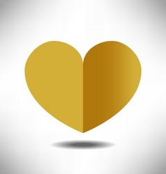 Heart gold vector